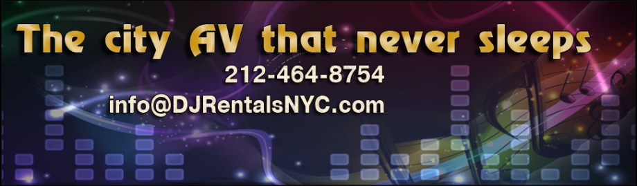 Rent quality audio DJ equipment in New York, including digital DJ systems.