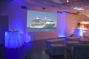 Rent a DJ system and event AV packages with AV system installation.